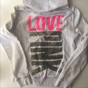 VS sequin hoodie